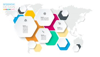 Hexagon Inforgraphics auf Vektorgrafik. vektor
