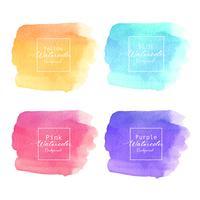 Färgglada abstrakta akvarellbakgrund. Akvarell element för kort. Vektor illustration.