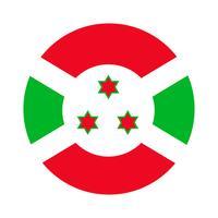 Burundis runda flagga. vektor