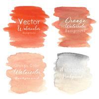 Orange abstrakt akvarell bakgrund. Vektor illustration.