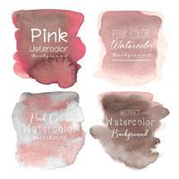 Rosa abstrakter Aquarellhintergrund. Vektor-illustration