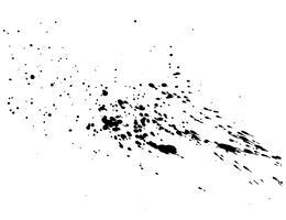 Abstraktes schwarzes Tintenspritzenaquarell, Spritzenaquarell-Spraybeschaffenheit lokalisiert auf weißem Hintergrund. Vektor-illustration vektor