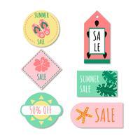 doodle söt sommar försäljning samling vektor