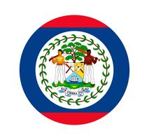 Rund flagga Belize. vektor
