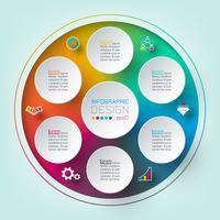 Sechs Kreise mit Business Icon Infografiken.