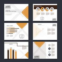 Företagspresentation glider mallar från infografiska element. broschyr och broschyr, broschyr, företagsrapport, marknadsföring, reklam, årsrapport, banner. vektor