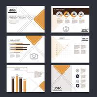 Präsentationsfolien Vorlagen aus Infografik-Elementen. Flyer und Faltblatt, Broschüre, Unternehmensbericht, Marketing, Werbung, Geschäftsbericht, Banner.