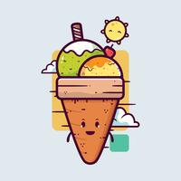 Sommer-Eiscreme-Vektor vektor