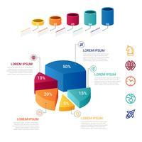 3D Infographik Element Vektor