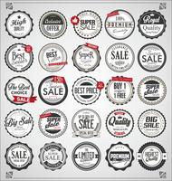 Retro vintage märken och etiketter