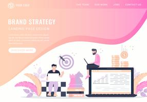 Vektor Markenstrategie Landing Page Design