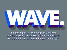 Rengör 3d vit och blå fet skrift vektor
