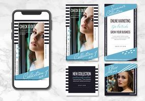 Vektor blau und schwarz App-Vorlagen