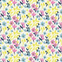 vektor handgjorda blommor sömlösa mönster