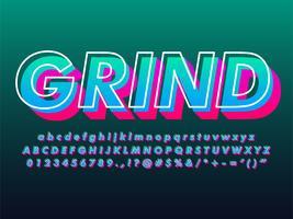 modern 3d gradient text effekt