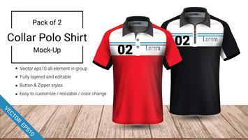 T-shirt mall för poloskjorta.