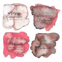 Rosa abstrakt akvarell bakgrund. Vektor illustration.