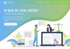 Landing Page der Vektorrechtsberatungsdienste vektor