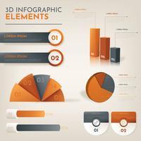 3d infografiskt vektorpaket