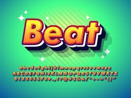 modernt popkonst alfabet vektor