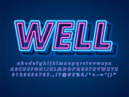 3d pop neon text effekt vektor