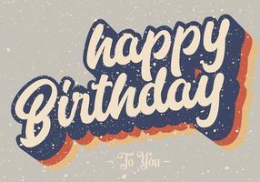 Grattis på födelsedagen vektor design
