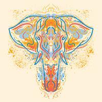 Målad elefantillustration