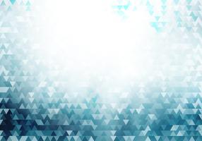 Abstrakter blauer geometrischer Hippie-Dreieckmusterhintergrund und -beschaffenheit mit Lichteffekt.
