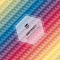 Bunter Hintergrund des abstrakten geometrischen Hexagonmusters, kreative Designschablonen