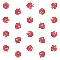 Pixel-Erdbeer-Muster vektor