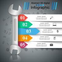 Schraubenschlüssel, Schraube, Reparatur-Symbol. Geschäft Infografik.