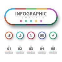 Geschäft Infografik. Papier-Origami-Vorlage. vektor