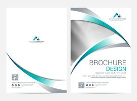 Broschüre Layoutvorlage, Cover-Design-Hintergrund vektor