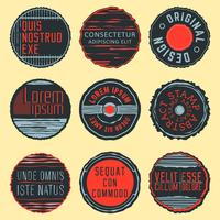 Vintage Insignien, Briefmarken oder Logos vektor