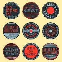 Vintage insignier, frimärken eller logotyper