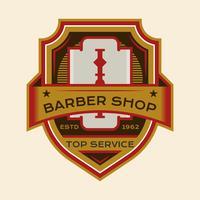 Söt Barber Badge vektor