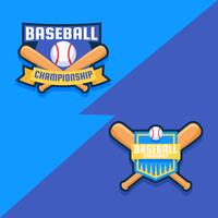 Baseball-Abzeichen vektor