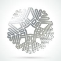 Silberne Schneeflocke-Symbol