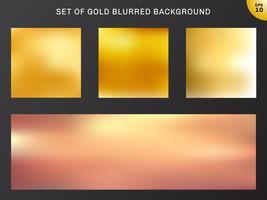 Satz Gold unscharfe Hintergrundluxusart. Sammlung viele schöne goldene Farbe.