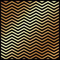 Abstrakt guldfärg chevron mönster på svart färg bakgrund och konsistens. vektor