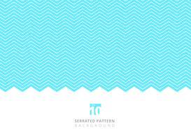 Abstrakte weiße Farbe gezackte Linien Muster auf blauem Hintergrund mit Kopienraum.
