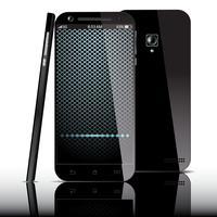 Realistisches schwarzes Smartphone vektor