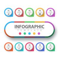 Geschäft Infografik. Papier-Origami-Vorlage.