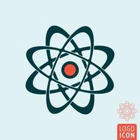 Atom ikon isolerad vektor