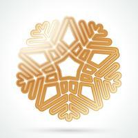 Guld snöflinga ikon