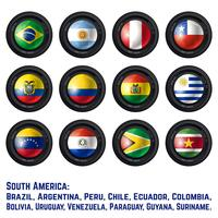 Sydamerika flaggor vektor