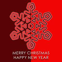 Frohe Weihnachten Neujahr vektor