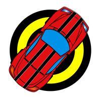 Roter Sportwagen vektor