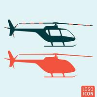 Helicopter ikon isolerad