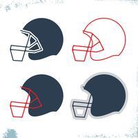 Football-Helm-Symbol vektor
